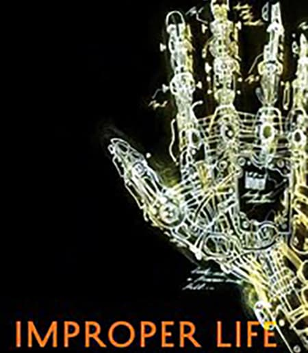 Cover image of electrically wired hand. Improper Life: Technology and Biopolitics from Heidegger to Agamben