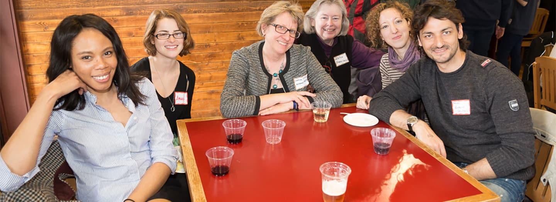 Romance Studies graduate students with professor Marilyn Migiel